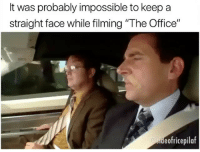 "I Bet, Lol, and Memes: It was probably impossible to keep a  straight face while filming ""The Office""  eofricepilaf i bet it was so hard LOL ———— theoffice dundermifflin dwightschrute michaelscott theofficeshow"