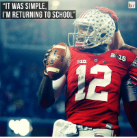 """School, Sports, and Cardale Jones: """"IT WAS SIMPLE,  I'M RETURNING TO SCHOOL'  BIG O QB Cardale Jones will return to Ohio State for his junior season! Will he be the starter next year?"""