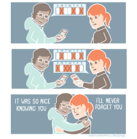 The tragedy of adult friendships (From Nathan Pyle: https://www.facebook.com/nathanwpyle2/): IT WAS SO NICE  KNOWING YOU  S M T W T F S  S M T W T F S  S M T W T  I'LL NEVER  FORGET YOU  CNATHANWPYLE/BUZZFEED The tragedy of adult friendships (From Nathan Pyle: https://www.facebook.com/nathanwpyle2/)