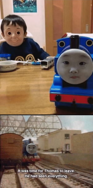 Time, Thomas, and For: It was time for Thomas to leave.  He had seen everything. AAAAAAAAA