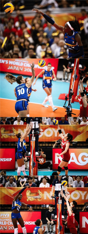 Anna, Target, and Tumblr: ITA   EN'S WORLD  JAPAN 20  10   1b  NSHIP   OY  LLEY  RLD CH  20  ONSH  AN fisicol92:  10 wins in a row! Italy takes a thrilling 5-set victory against Japan and goes to World Champ Semifinal!Team Italy defeat Japan 3-2 (25-20, 22-25, 25-21, 19-25, 15-13) to achieve the FIVB Women's World Champ semifinal. Japan, who lost with Serbia and Italy in grop G, is out.Match MVP is Paola Egonu with the impressive number of 33 spikes and 35 points. Miryam Sylla scores 19, Anna Danesi 13 (with 5 blocks). For Japan Erika Araki achieves 17 points, Sarina Koga 16.