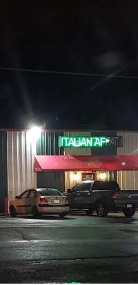 Af, Restaurant, and Italian: ITALIAN AF A The most Italian restaurant youll ever eat at.