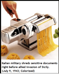 """<p>Italian Memes via /r/MemeEconomy <a href=""""http://ift.tt/2iYYFHq"""">http://ift.tt/2iYYFHq</a></p>: Italian military shreds sensitive documents  right before allied invasion of Sicily.  (July 9, 1943; Colorized) <p>Italian Memes via /r/MemeEconomy <a href=""""http://ift.tt/2iYYFHq"""">http://ift.tt/2iYYFHq</a></p>"""