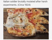 Italian Soldiers: Italian soldier brutally mutated after harsh  experiments. (Circa 1924)