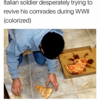 rip 😕: Italian Soldier desperately trying to  revive his comrades during WWII  (colorized) rip 😕