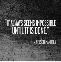 What ever that means to you.... tackle it head on! MondayMotivation NoExcuses BelieveToAchieve: ITALWAISSEEMSIMPOSSIBLE  UNTIL ITlS DONE  NEISON MANDELA What ever that means to you.... tackle it head on! MondayMotivation NoExcuses BelieveToAchieve