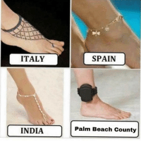 Beach, India, and Spain: ITALY  SPAIN  INDIA  Palm Beach County How it be