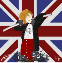 Target, Tumblr, and Blog: ITE  ME ask-the-1950s-nyotalias:  Some Punk Nyo! Egland :D even though this is a 1950s blog