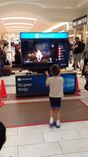 Tumblr, Windows, and Blog: ITED  Windows 10  Es  Windows 10  Do great  things weloveshortvideos:  this little boy killin it at the mall