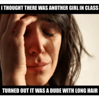 😂 engineering engineer engineers womanengineer womenengineers science calculus physics engineering_memes engineeringrepublic dudewithlonghair girlengineer chemistry math: ITHOUGHT THERE WAS ANOTHER GIRL IN CLASS  TURNED OUTIT WAS A DUDE WITHLONGHAIR 😂 engineering engineer engineers womanengineer womenengineers science calculus physics engineering_memes engineeringrepublic dudewithlonghair girlengineer chemistry math