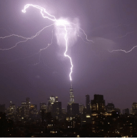A bolt of lightning strikes the spire of One World Trade Center in lower Manhattan as a thunder storm moves through New York City. An observatory is set atop One World Trade Center, the tallest building in the western hemisphere, and offers panoramic views stretching 80 kilometres past the Manhattan skyline to the Atlantic Ocean. PHOTOGRAPH BY UPI - Barcroft Images BBCSnapshot NY NewYork storm lightning Manhattan OneWorldTradeCenter Barcroft: iti A bolt of lightning strikes the spire of One World Trade Center in lower Manhattan as a thunder storm moves through New York City. An observatory is set atop One World Trade Center, the tallest building in the western hemisphere, and offers panoramic views stretching 80 kilometres past the Manhattan skyline to the Atlantic Ocean. PHOTOGRAPH BY UPI - Barcroft Images BBCSnapshot NY NewYork storm lightning Manhattan OneWorldTradeCenter Barcroft