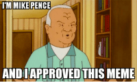 Fair and balanced reporting: ITM MIKE PENCE  ANDI APPROVED THIS MEME Fair and balanced reporting