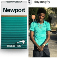 """Ass, Memes, and Newport: """"itoer..:;=  dcyoungfly  Newport  CIGARETTES @dcyoungfly come on with it super villain named """"Newport Man"""" looking ass!"""