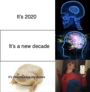 the-memedaddy:  meirl: It's 2020  It's a new decade  It's Wednesday my dudes the-memedaddy:  meirl
