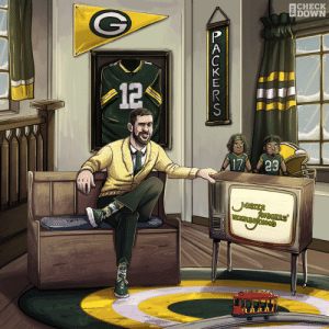 It's a beautiful day in @AaronRodgers12's neighborhood. #NFLPlayoffs #GoPackGo  (via @thecheckdown) https://t.co/MPgccSGExi: It's a beautiful day in @AaronRodgers12's neighborhood. #NFLPlayoffs #GoPackGo  (via @thecheckdown) https://t.co/MPgccSGExi