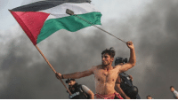 It's a picture that's spawned thousands of words online. This striking image of a Palestinian protester was captured by photojournalist Mustafa Hassona amid violent protests on a Gaza beach close to the border with Israel. Social media is likening it to Eugene Delacroix's famous painting of the 1830 Paris uprising - Liberty Leading the People. Tap on the link in our bio 👆🏼 to read more.: It's a picture that's spawned thousands of words online. This striking image of a Palestinian protester was captured by photojournalist Mustafa Hassona amid violent protests on a Gaza beach close to the border with Israel. Social media is likening it to Eugene Delacroix's famous painting of the 1830 Paris uprising - Liberty Leading the People. Tap on the link in our bio 👆🏼 to read more.