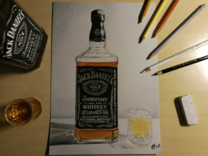 It's a whiskey week so I thought I could share this drawing I made 2 years ago. I'm a slowpoke so it took me 4 months from start to finish.: It's a whiskey week so I thought I could share this drawing I made 2 years ago. I'm a slowpoke so it took me 4 months from start to finish.