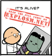 Alive, Dank, and Harsh: IT'S ALIVE?  READ  THE FULL  COMIC  ON Are you ready for a new comic? Because even if you aren't, you're gonna click this dang link and you're gonna LIKE IT, do you hear me?! https://goo.gl/eLpLmq  Sorry, that was a little harsh. We just really, really want to show you this comic.