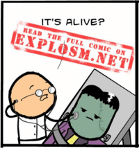 Alive, Memes, and Harsh: IT'S ALIVE?  READ THE FULL comic ON Are you ready for a comic? Because even if you aren't, you're gonna click the dang link in our bio and you're gonna LIKE IT, do you hear me?! ⠀ ⠀ ⠀ Sorry, that was a little harsh. We just really, really want to show you this comic.