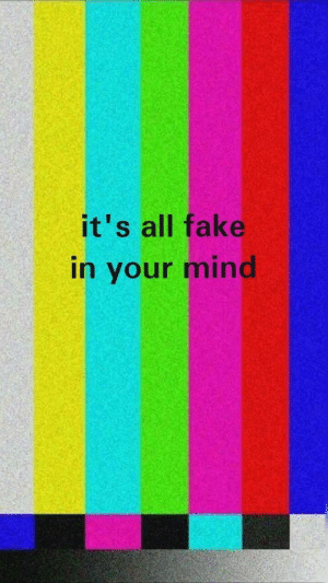 In Your Mind: it's all fake  in your mind