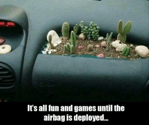 You know this is true..: It's all fun and games until the  airbag is deployed.. You know this is true..
