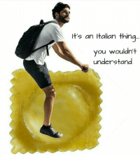 italian: It's an Italian thing...  you wouldn't  understand