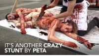 Human slaughterhouse:   Vegan protesters 'carve' themselves on World Vegan Day   #London: IT'S ANOTHER CRAZY  STUNT BY PETA  Nn.E Human slaughterhouse:   Vegan protesters 'carve' themselves on World Vegan Day   #London