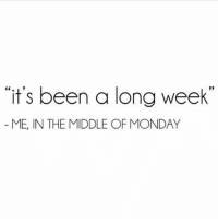 Memes, The Middle, and Monday: it's been a long week  ME, IN THE MIDDLE OF MONDAY Repost @nefretiry