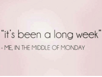 """Memes, The Middle, and Monday: """"it's been a long week  ME, IN THE MIDDLE OF MONDAY"""