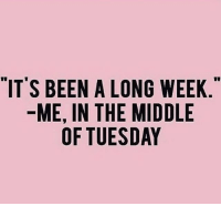 """Memes, The Middle, and Been: """"ITS BEEN A LONG WEEK  ME, IN THE MIDDLE  OF TUESDAY 😫 @confessionsofablonde goodgirlwithbadthoughts 💋"""