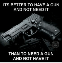 Guns, Memes, and Toms: ITS BETTER TO HAVE A GUN  AND NOT NEED IT  VIL  ATC  THAN TO NEED A GUN  AND NOT HAVE IT - Tom Retterbush