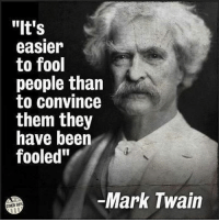 """Democrat voters in a nutshell!: """"It's  easier  to fool  people than  to convince  them they  have beern  fooled""""  Mark Twain  OTMER 98* Democrat voters in a nutshell!"""
