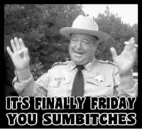 Sumbitch: ITS  FINALLY FRIDAY  YOU SUMBITCHES