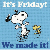 Happy Friday everyone: It's Friday!  We made it Happy Friday everyone