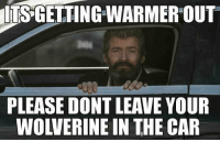 Memes, Wolverine, and 🤖: ITS GETTING WARMER OUT  PLEASE DONT LEAVE YOUR  WOLVERINE IN THE CAR