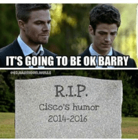 Memes, 🤖, and Cisco: IT'S GOING TO BE OKBARRY  RI,P.  Cisco's humor  2014-20 (Cassius) Geek Lives Matter