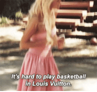 Louis Vuitton: It's hard to play basketball  in Louis Vuitton