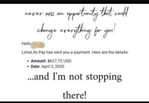 It's her 2 year MLM anniversary with her biggest paycheck yet.: It's her 2 year MLM anniversary with her biggest paycheck yet.