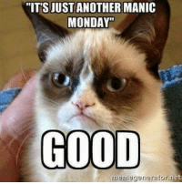 """""""ITS JUST ANOTHER MANIC  MONDAY""""  GOOD  memegenerator et Tee hee hee!  Our Auntie Mary brought us da Manic Monday funny!!! :)"""