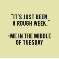 Dank, The Middle, and Rough: IT'S JUST BEEN  A ROUGH WEEK  ME IN THE MIDDLE  OF TUESDAY