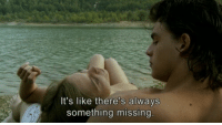 Like, Always, and  Something: It's like there's always  something missing