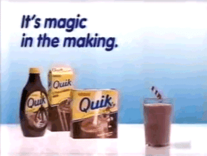 Tumblr, Blog, and Http: It's magic  in the making.  Quik  Quik blowinthecartridge:Nestle Quik (1992)