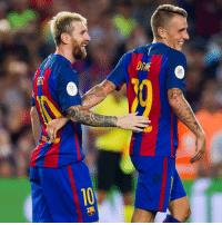 """Memes, FC Barcelona, and 🤖: """"It's magic. It's natural for [Messi]. I can't explain it. He has something more than anybody else. He's on another planet.""""  - FC Barcelona defender Lucas Digne on Leo Messi"""