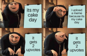 Dank, Meme, and Memes: its my  cake  i upload  day  a meme  because its  my cake  day  gets  2  upvotes  gets  2  upvotes its today my dudes by tomil19 MORE MEMES
