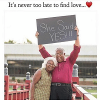 Love this 😍❤ Have a good night fam! Time to show some luv 💋: It's never too late to find love...C  She Said  YESI Love this 😍❤ Have a good night fam! Time to show some luv 💋