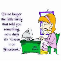 "the littles: It's no longer  the little birdy  that told you  something  now days  it's ""G seen  it on  acebook.  a un  Pictures"