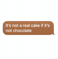 Cake, Chocolate, and Real: It's not a real cake if it's  not chocolate