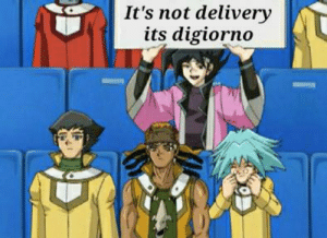Anime, Digiorno, and Sign: It's not delivery  its digiorno Daily Chazz Sign #135