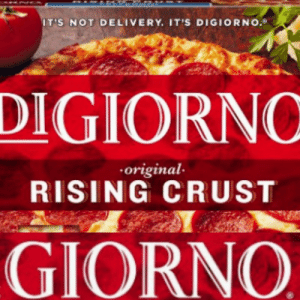 Digiorno, Delivery, and Crust: IT'S NOT DELIVERY. IT'S DIGIORNO.  DIGIORNC  original  RISING CRUST  GIORNO It's Not Delivery. It's...