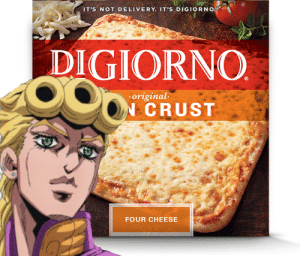 Digiorno, Cheese, and Delivery: IT'S NOT DELIVERY. IT'S DIGIORNO  DIGIORNO  original  CRUST  FOUR CHEESE It's not delivery, its